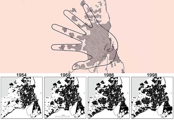 为了将宏观构想落实到个人层面。因此在设计时对样本切片,对具体的样本基地进行设计。为了摆脱传统城市规划非人的叙述方式,我们采取符号模型、拼贴画的方式表达。在每个节点用类似玩具的模型,让设计者、阅读者可以了解节点的意义。用拼贴画表现每个基地的具体场景,大家能够理解良好的骑行环境对个体的影响。 郑迪: 以往的慢行系统偏向旅游者  为什么我们越来越关注骑行?用学术的话说,这是城市的市民化趋势。我们发现,在上海适合骑行的区域,街道街区的尺度都是外国人设定的,真让中国人做也许会做成陆家嘴那样。这是生活方式投射到现实当